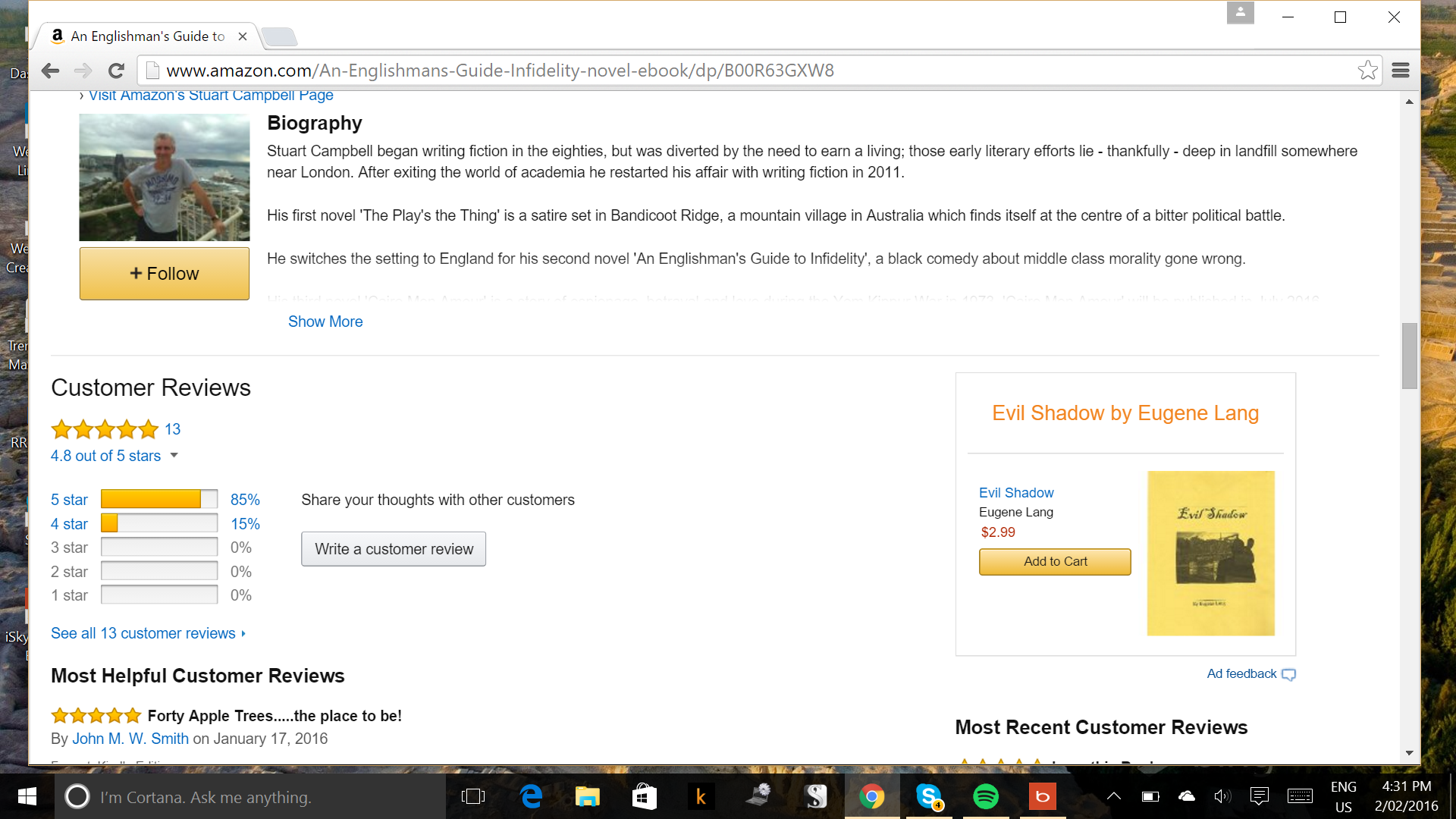 Quick Guide To Reviewing My Books On Amazon Stuart