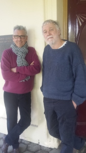 Garry (right) and Stuart at the NSW Writers Centre, Sydney